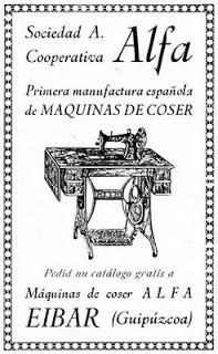 Sociedad Anónima Cooperativa ALFA. máquinas antigüas
