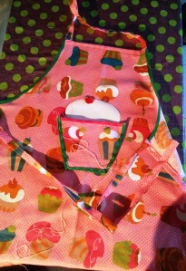 delantal #handmade, rematando bolsillo