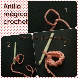 Anillo mágico, para empezar labor circular crochet, trapillo