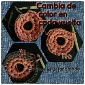 cómo Cambiar el color del hilo, crochet, trapillo, ganchillo