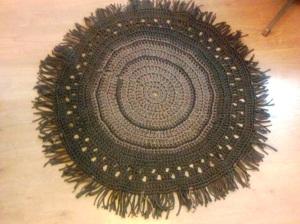 diy crochet trapillo, alfombra redonda tutorial